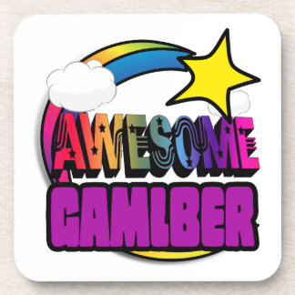 Shooting Star Rainbow Awesome Gambler Beverage Coaster
