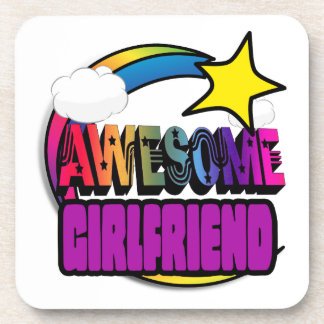 Shooting Star Rainbow Awesome Girlfriend Drink Coaster