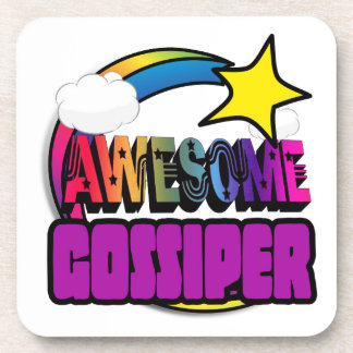Shooting Star Rainbow Awesome Gossiper Drink Coasters