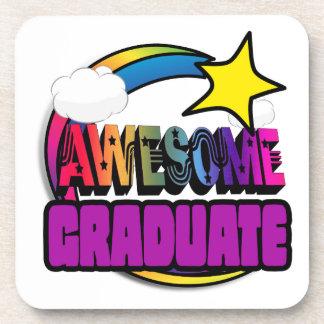 Shooting Star Rainbow Awesome Graduate Beverage Coasters