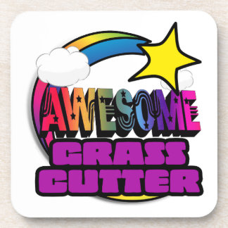 Shooting Star Rainbow Awesome Grass Cutter Beverage Coasters