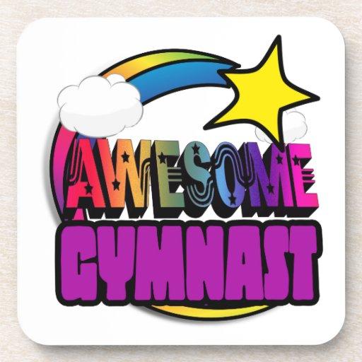 Shooting Star Rainbow Awesome Gymnast Coaster