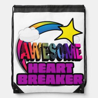 Shooting Star Rainbow Awesome Heart Breaker Backpacks