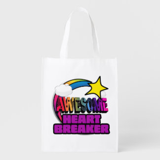 Shooting Star Rainbow Awesome Heart Breaker Market Tote