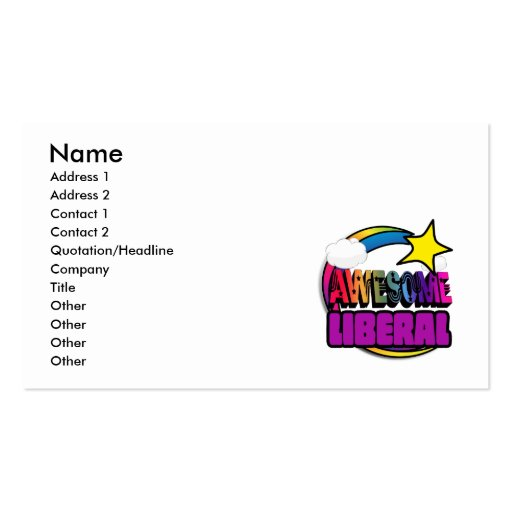 Shooting Star Rainbow Awesome Liberal Business Cards