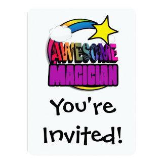 Shooting Star Rainbow Awesome Magician 14 Cm X 19 Cm Invitation Card