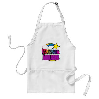 Shooting Star Rainbow Awesome Manager Aprons