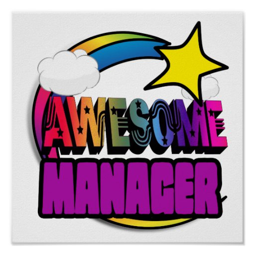 Shooting Star Rainbow Awesome Manager Posters