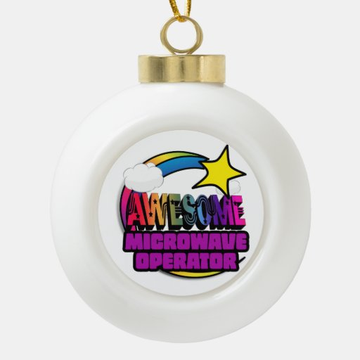 Shooting Star Rainbow Awesome Microwave Operator Ornament