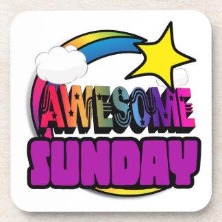 Shooting Star Rainbow Awesome Sunday Beverage Coaster