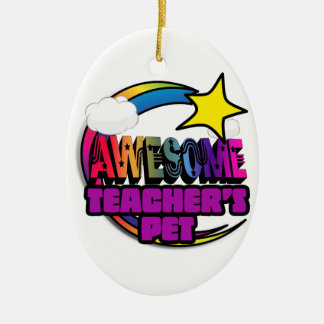 Shooting Star Rainbow Awesome Teachers Pet Ornament