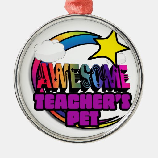 Shooting Star Rainbow Awesome Teachers Pet Ornament