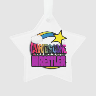 Shooting Star Rainbow Awesome Wrestler Ornament