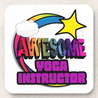 Shooting Star Rainbow Awesome Yoga Instructor Beverage Coasters