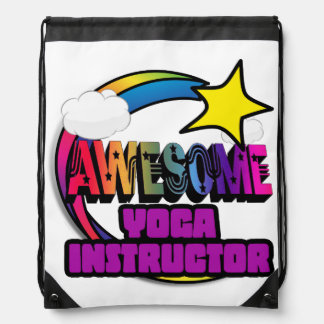 Shooting Star Rainbow Awesome Yoga Instructor Cinch Bags