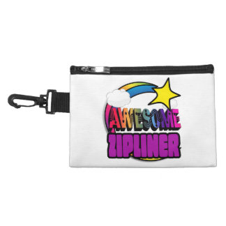 Shooting Star Rainbow Awesome Zipliner Accessories Bag