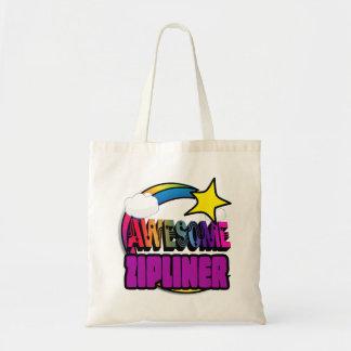 Shooting Star Rainbow Awesome Zipliner Tote Bag