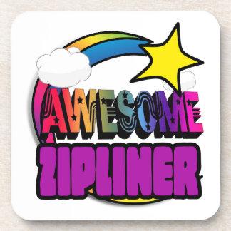 Shooting Star Rainbow Awesome Zipliner Beverage Coaster