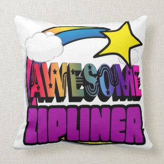 Shooting Star Rainbow Awesome Zipliner Throw Pillows