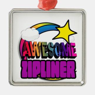 Shooting Star Rainbow Awesome Zipliner Christmas Ornament