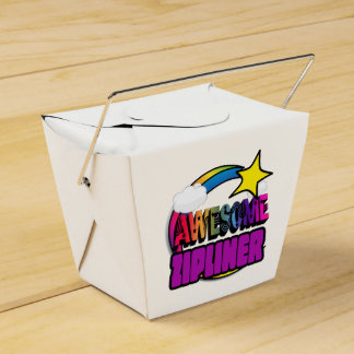 Shooting Star Rainbow Awesome Zipliner Party Favor Box