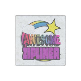 Shooting Star Rainbow Awesome Zipliner Stone Magnet
