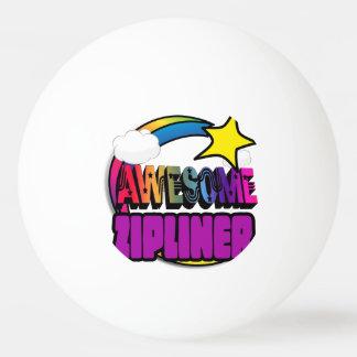 Shooting Star Rainbow Awesome Zipliner Ping Pong Ball
