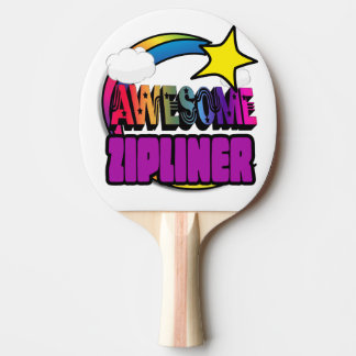 Shooting Star Rainbow Awesome Zipliner Ping Pong Paddle