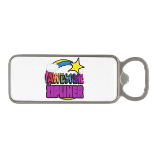 Shooting Star Rainbow Awesome Zipliner Magnetic Bottle Opener