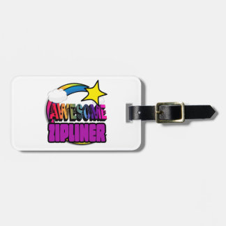 Shooting Star Rainbow Awesome Zipliner Tag For Luggage
