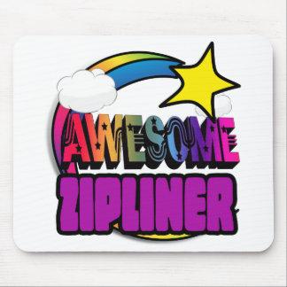 Shooting Star Rainbow Awesome Zipliner Mousepad