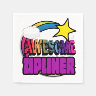 Shooting Star Rainbow Awesome Zipliner Disposable Napkins