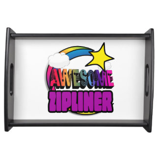Shooting Star Rainbow Awesome Zipliner Serving Tray