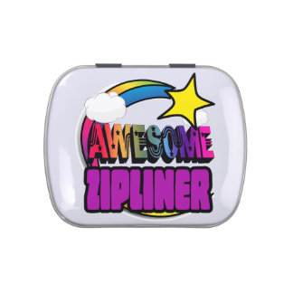 Shooting Star Rainbow Awesome Zipliner Candy Tin