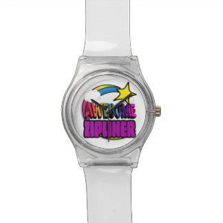 Shooting Star Rainbow Awesome Zipliner Wrist Watches