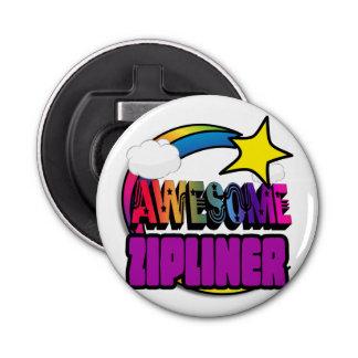Shooting Star Rainbow Awesome Zipliner Button Bottle Opener
