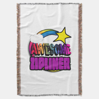 Shooting Star Rainbow Awesome Zipliner Throw Blanket