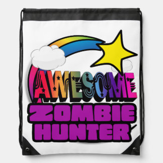 Shooting Star Rainbow Awesome Zombie Hunter Backpack