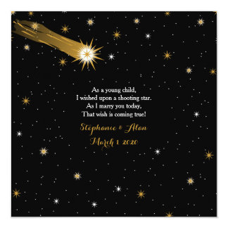 Shooting Star Romantic Wedding Invitation