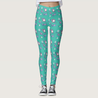 Shooting Stars and Comets Turquoise Leggings