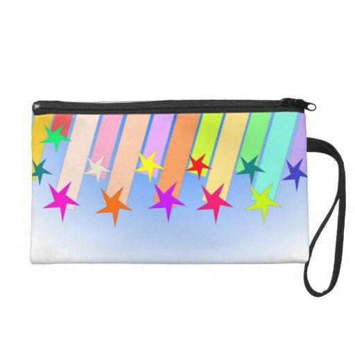 shooting stars wristlet purse