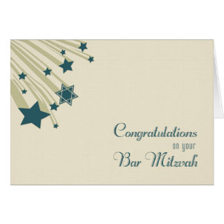 Shooting Stars, Bar Mitzvah Congratulations Card