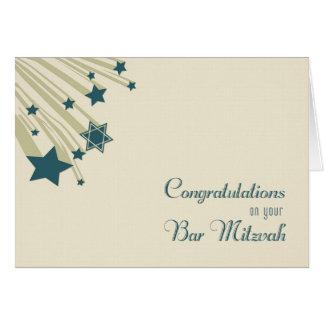 Shooting Stars, Bar Mitzvah Congratulations Card
