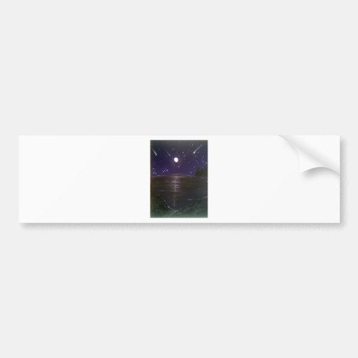Shooting stars bumper stickers