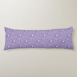Shooting Stars Comets Pastel Purple Body Pillow