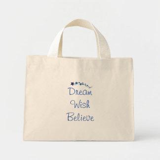 Shooting-Stars-Dream-Wish-Believe Mini Tote Bag