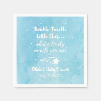 Shooting Twinkle Little Star Baby Shower Napkins Paper Serviettes
