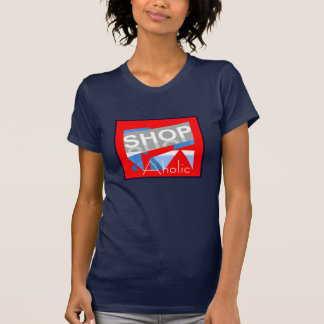 SHOP AHOLIC Humor Shirt for Women-Red/White/Blue