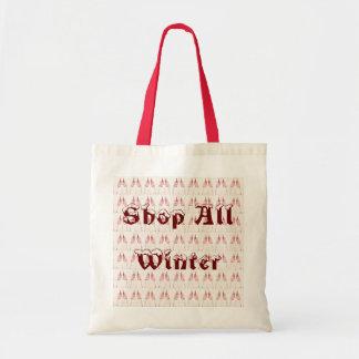 Shop All Winter Tote Bag