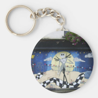 """Shop (For Sale) With Decorative Window Painting """"H Key Chain"""